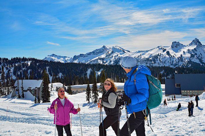 Snowshoeing at Mount Rainier
